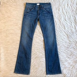 Hudson signature bootcut Jeans Midrise denim 28